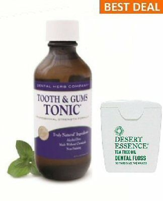 Dental Herb Company Tooth and Gums Tonic18Oz Bottle + FREE Dessert Essence Floss