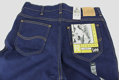 Vintage Lee Regular Fit Straight Leg Blue Jeans Indigo, USA, 34 x 32 NWT, NOS