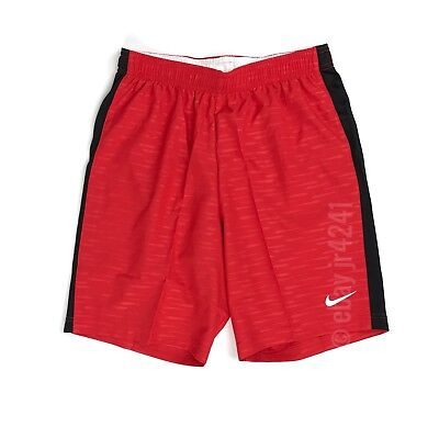 New Nike Youth Unisex M Shorts Football Soccer Drawstring Red Black