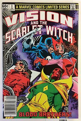 Vision and the Scarlet Witch #3 NM- WONDER MAN GRIM REAPER AVENGERS Marvel Comic