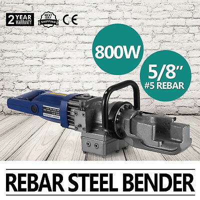 Electric Portable Steel Rebar Bender 110V 800watt Power Hand Held Equipment New