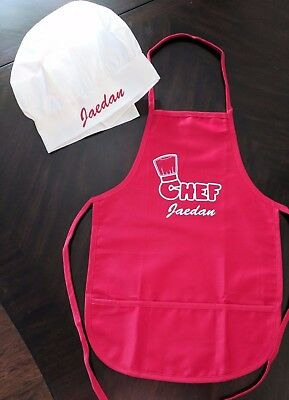 Personalized Child's Chef Cooking Apron Chefs Hat kids fun cute paint cook 2-5yr