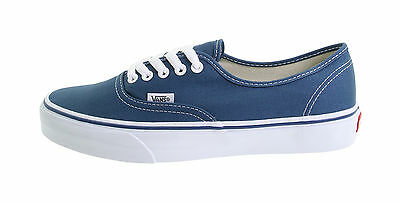 Vans Women Men Unisex Shoes Authentic Navy Blue Canvas Lace Up Classic Sneakers