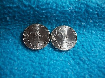 2015 P & D Jefferson Nickel Uncirculated, 2 Coins