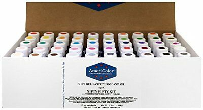 AmeriColor Nifty Fifty Kit .75 oz Soft Gel Paste 50 Pack