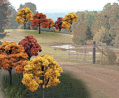 """Woodland Scenics Fall Colors Deciduous Trees 2-3"""" ( 23 ) # TR1576 FACTORY SEALED"""