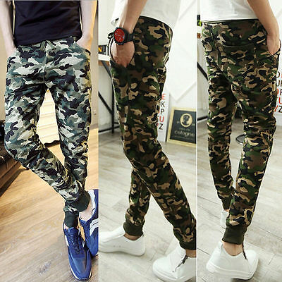 Men's Jogger Camo Sportwear Baggy Harem Casual Pants Slacks Trousers Sweatpants
