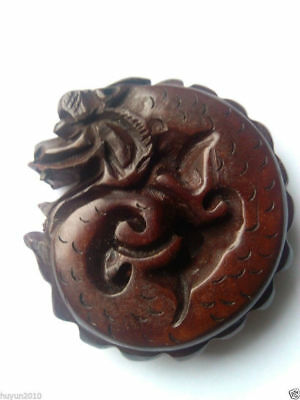 Details about Oriental Boxwood Hand Carving Dragon figurine