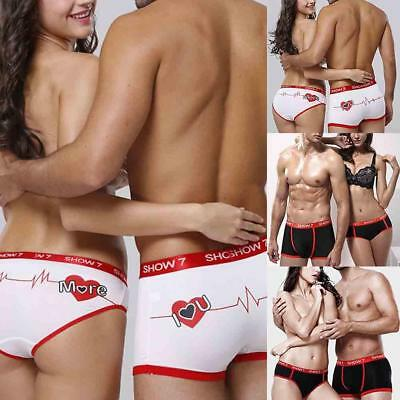 Couple Lovers Underwear Men's Shorts Boxer Briefs Women's Panties Knickers Thong