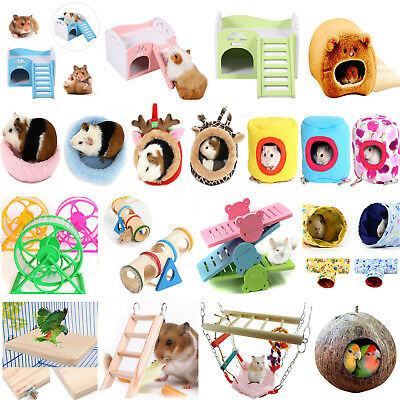 Pet Rat Hamster Parrot Ferret Squirrel Hammock Seesaw Hanging Bed House Mat Toys