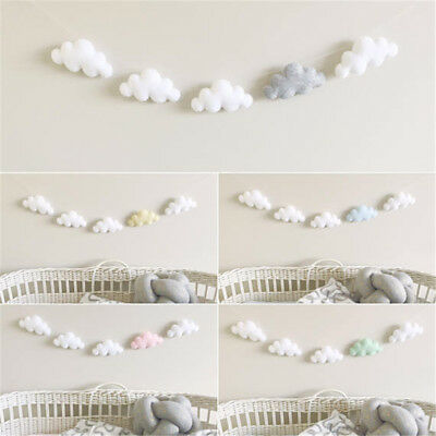 5pc/set Cloud Garland Ornament Kids Bedroom Hanging Wall Decor Nursery Decor