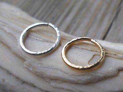 Septum Ring,Nose Hammered piercing ring,cartilage,helix,tragus,ear hoop earring