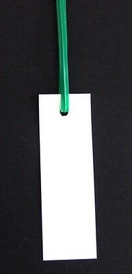 "Plastic Tags - Plant Labels  - 100 Twist-Tied Tags (3"" X 1"") Industrial Labels"
