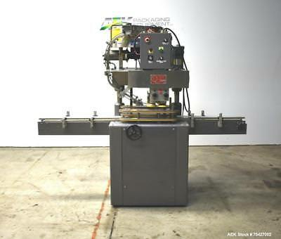 Used- Kaps-All Model D Automatic Inline Screw Capper. Machine is capable of spee