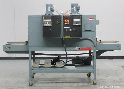Used- Shanklin Model CT62 Dual Zone Shrink Tunnel. Speeds variable from 25 to 15