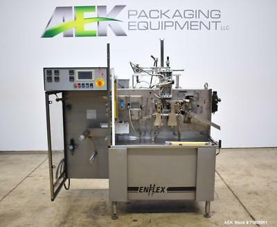 Used- Enflex Model F11T Horizontal Form Fill Seal Pouch Machine with Liquid Pist