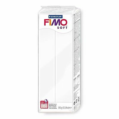 FIMO Soft 12.34oz (350g) Polymer Modelling Clay - Oven Bake Clay - Single White