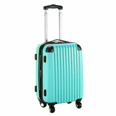 """GLOBALWAY 20"""" Expandable ABS Carry On Luggage Travel Bag Trolley Suitcase Green"""