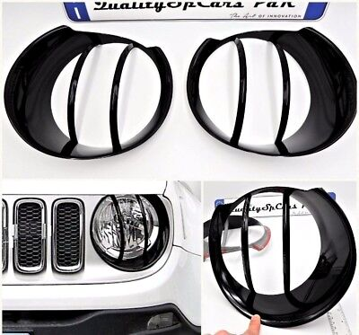 Jeep RENEGADE COVER FARI nero copertura luci ACCESSOR head light lamp FRAME TRIM