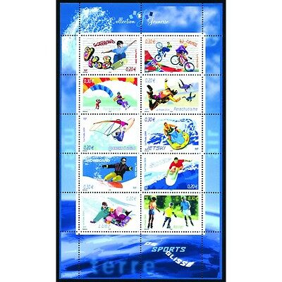 Bloc Feuillet BF76 - Collection jeunesse - Sports de glisse - 2004