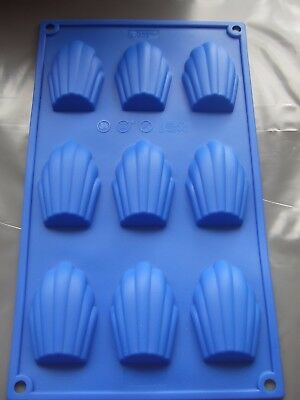 Silicone Madeleine Mould 9 Cavity/ Shell Pan/Tray/Sponge Cake Tin-Biscuits