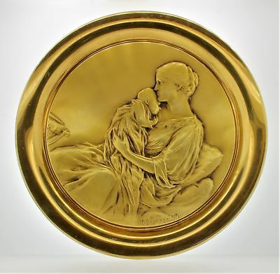 Mother & Child V. D. Brenner Gold Plated Sterling Silver Numbered Plate 174/250