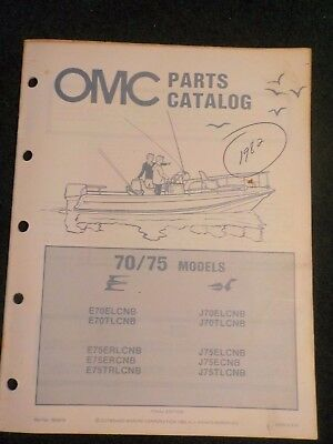 1982 OMC Johnson Evinrude Outboard Parts Catalog Manual 70 75 HP Final Edition