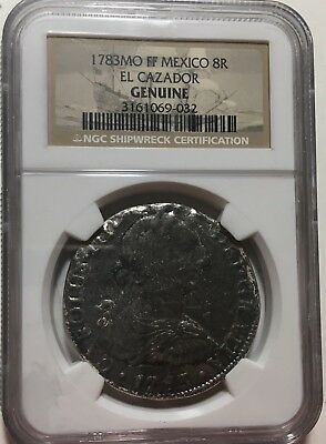 1783 Mo Ff Mexico 8 Reales From Shipwreck Of El Cazador Ngc Certified Genuine