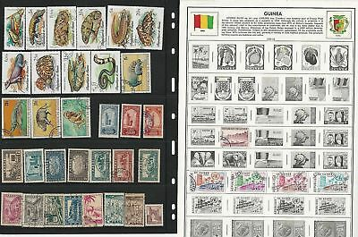 Guinea Collection on 13 Album & Stock Pages, Art, Animals Topicals