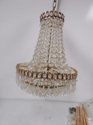 Vintage Home Lighting Lamp Antique French Crystal Wedding Cake Chandelier 2500K