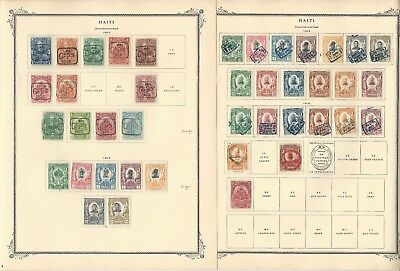 Haiti Collection 1881 to 1976 on Scott Specialty Pages, Around 100 Pages