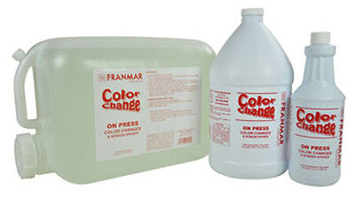 New 1 Gallon Franmar Chemical Color Change On Press Textile Ink Cleaner CC1GWD