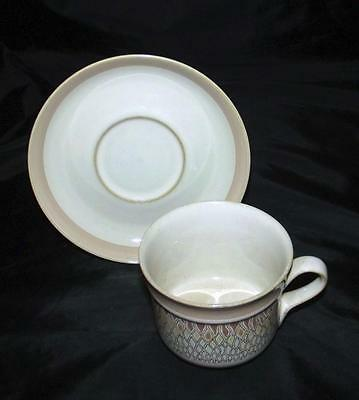 Denby Pottery Chantilly Pattern Cup and Saucer made in Stoneware