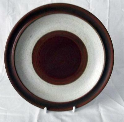 Denby Potters Wheel Rust Red Pattern Dessert Plate 21cm Dia made in Stoneware