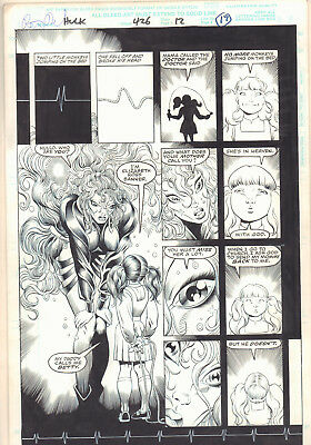 Incredible Hulk #426 p.17 - Surreal Betty as a Child - 1995 art by Liam Sharp