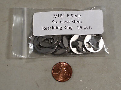"7/16"" SE-Style External Stainless Retaining Ring MMCC (same as RC SE-43)  25 pc."