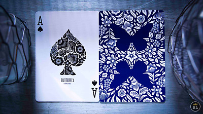 1 DECK Butterfly (marked) blue playing cards  FREE USA SHIPPING!