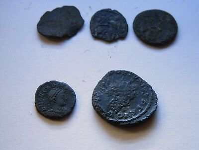 Genuine Roman Coin Collection Joblot x5 Uncleaned Unresearched Good Grade Lot#33