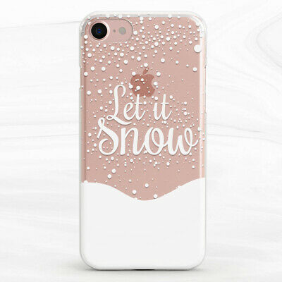 Let It Snow Winter Soft Silicone TPU Case Cover iPhone 6s 7 8 Plus XR Xs Max