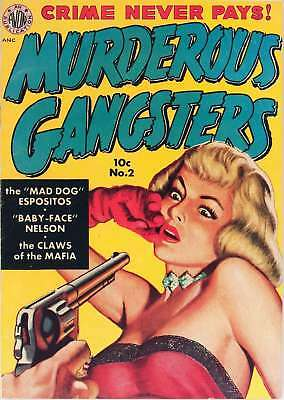 Murderous Gangsters #2 (1951) Photocopy Comic Book - Avon Periodicals