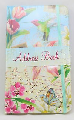 For Arts Sake E7 Carol Wilson Address Book 6×3.5in – Floral Delights Hummingbird