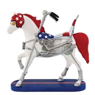 TRAIL OF PAINTED PONIES - HAPPY TRAILS - EZ Rider - Enesco - Resin - Motorcycle