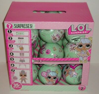 L.O.L. LIL OUTRAGEOUS LITTLES DOLL Series 2 Wave 1-FULL CASE BOX of 18 LOL Balls