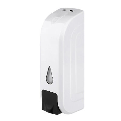 ABS Plastic 350ML Wall-Mount Bathroom Liquid Soap Dispenser White