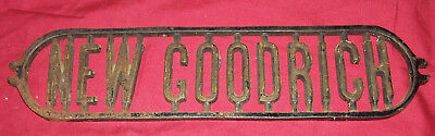 Old New Goodrich Cast Iron Sign Sewing Machine Repurposed Art Vintage Antique