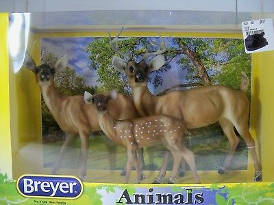 Breyer Animals #1734 Deer Family NEW NIB Buck,  Doe & Fawn