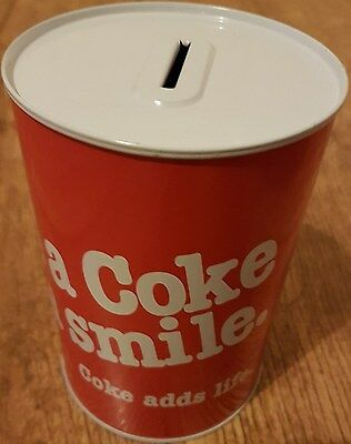 "Coca Cola ""have A Coke And A Smile"" Money Box Tin - Rare & Bargain Price"