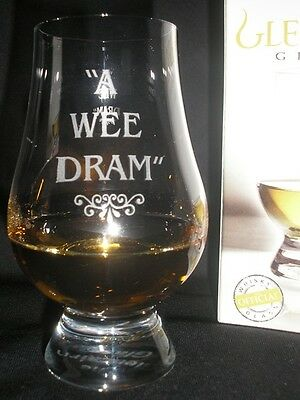 A Wee Dram Glencairn Scotch Whisky Tasting Glass