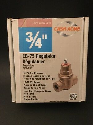 "New Watts 23000-0045 Eb75 3/4"" Water Pressure Reducing Valve Regulator 1071299"