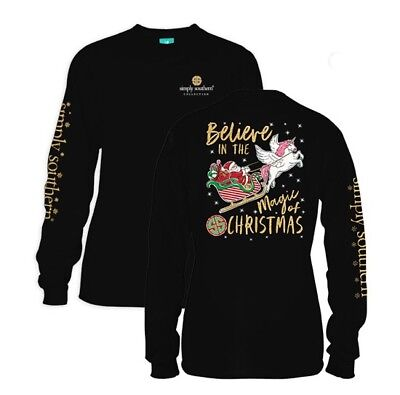 "New Simply Southern  ""Believe  In The Magic Of Christmas "" Size XLarge"